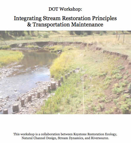 Workshop Integrating Stream Restoration Principles and Transportation Maintenance